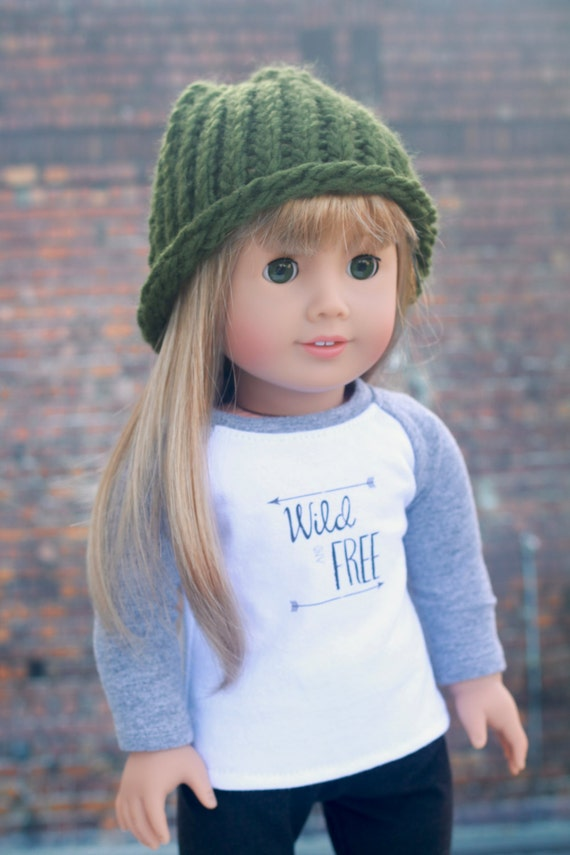 AG Doll Clothes | Green Knitted BEANIE HAT for 18 Inch Dolls such as American Girl