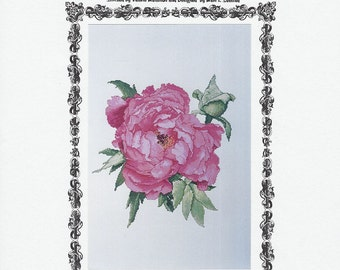 The Silver Lining - Pink Ice - Tree Peony - Counted Cross Stitch Chart - Designer Marc Saastad