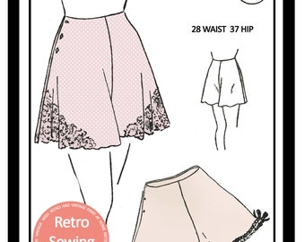 1940s French Knickers Sewing Pattern - Paper  Lingerie Pattern