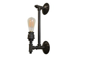 Industrial Furniture - Wall Sconce - Light Fixture - Pipe Lamp - Wall Decor - Industrial Decor - light - steampunk furniture - edison bulb