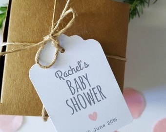 Personalised Baby Shower Favour Gift Tags - Set of 20 - GT055 | Baby Sprinkle Favour Tags