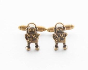 Robot Cufflinks Robot Gifts for Men Scifi Cufflinks Robot Cuff Links Set Geeky Gifts for Men Geeky Men's Accessories Vintage Robot Jewelry