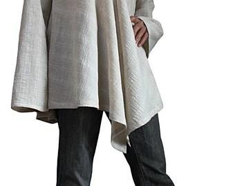 Linen Hemp Simple Blouse Jacket  (BRL-008-02)