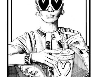 Moschino MCD/ Fashion Illustration / Fashion Print