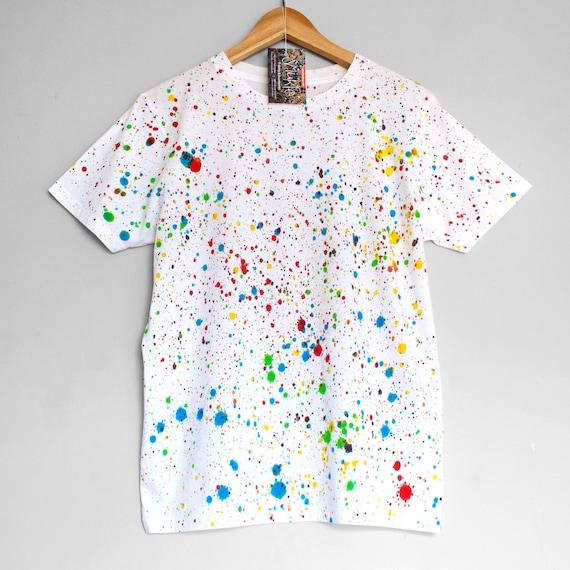 COLOUR SPLASH 2 t-shirt. 100% organic cotton t-shirt. Hand painted. Speckled t-shirt.