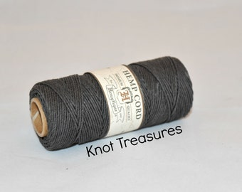 Grey Hemp Twine, Slate Grey 1mm Dyed Hemp Cords, Twine, Hemp Twine, Grey Strings