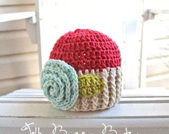 Baby Girl Hats, Girl Hats, Kids Hats, Baby Hats, Flower Hats, Girl Beanies, Baby Beanies, Infant Hats, Flower Hats, Flower Beanie