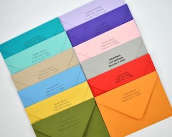 Envelope Return Address Printing