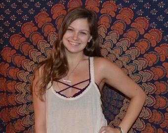 Criss Cross Crochet Bralette