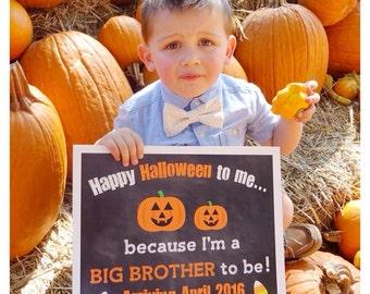Halloween Pregnancy Reveal // Halloween Pregnancy Announcement // Big Brother Announcement