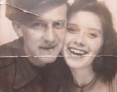 Young Lovers - 1940's Cute Couple Shares A Moment In The Photo Booth Photo