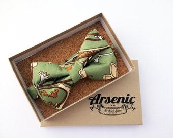 Green bow tie | mens bow tie | floral bow tie | orange bow tie | boys bow tie | toddler bow tie | vintage bow tie | womens bo