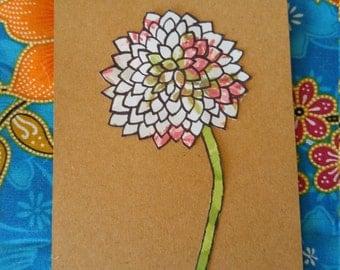 Blank Burst Flower Card 1