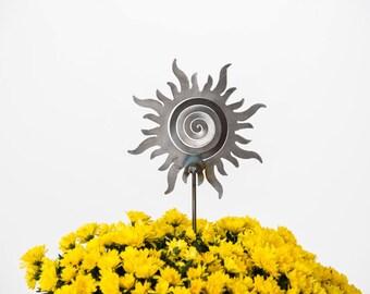 SALE Sunshine Spiral Garden Art Stake
