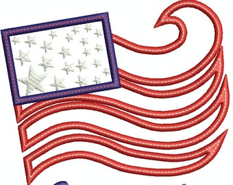 Proud to have Served US Flag, US Veteran, USA Flag, Stars and Strips, 4th of July, Independence Day, old glory, Machine Embroidery 125