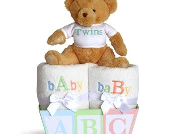 """Baby """"A"""" & """"B"""" Gift for Twins"""