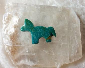 Green Turquoise Medium Horse/Pony Cabochon/backed/Sonora, Mexico