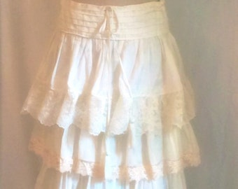 Long white skirt | Etsy
