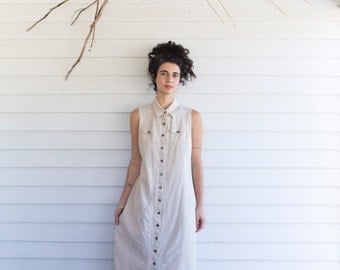 Great Dunes Linen Button Up Dress