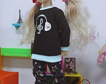 bjd yosd 1/6 doll clothes, Pants navy star