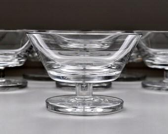 Peill Crystal Dessert Bowls Malta Pattern Germany Set of 8