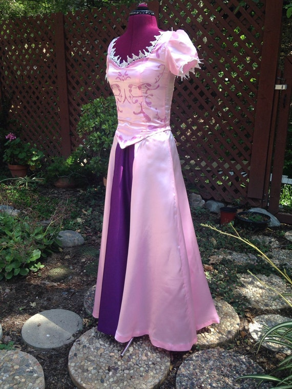 Tangled Rapunzel Costume Pink Dress