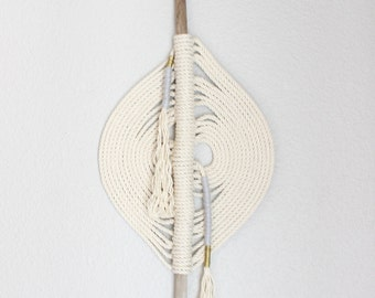 """Macrame Wall Hanging """"Yukari no.11"""" by HIMO ART, One of a kind Handcrafted Macrame/Rope art"""