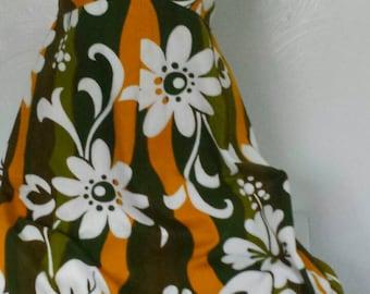 Vintage 60s Hawaiian tiki print dress