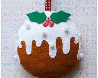 Christmas Pudding Ornament PDF Sewing Pattern and Tutorial, Instant Download, Easy Step-by-Step Instructions