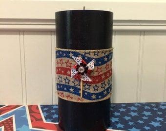4th Of July Decor - Patriotic Centerpiece - Patriotic Decor - Red White and Blue Decor - Patriotic Decor - Patriotic Ribbon - Pinwheels