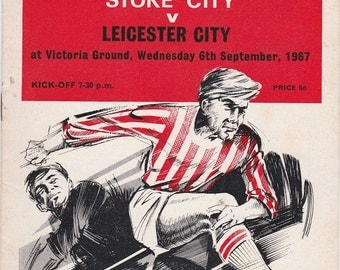 Vintage Football (soccer) Programme - Stoke City v Leicester City, 1967/68 season