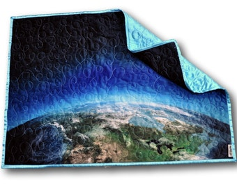 Space Baby Quilt * Space Baby Blanket * Space Nursery * Outer Space Nursery * Outer Space Baby Quilt * Planets Quilt * Planets Nursery *