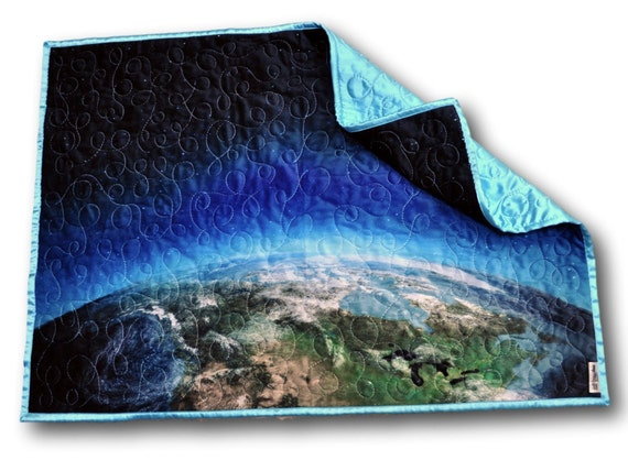 Space baby quilt space baby blanket space nursery outer for Spaceship quilt