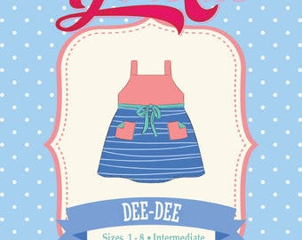 DeeDee Dress & Top, Wrap Dress and Top,  PDF Sewing Pattern: Sizes 1 to 8