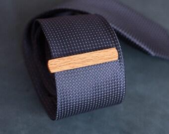Beech Wood Tie Clip. Slim 10,5  mm ties clip. Groomsmen Tie Clips. Monogrammed Tie Bar. Exotic Wood Tie Clip. Engraved Custom Tie Clip.