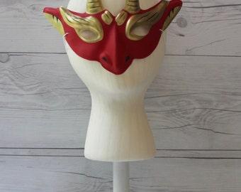 Plastic Devil Mask, Vintage or Vintage Look Halloween Mask