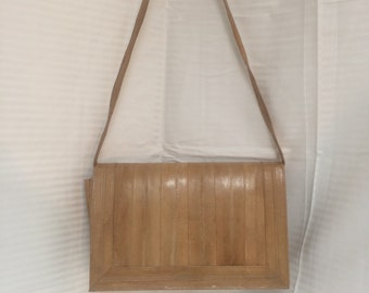 Eel skin leather purse,Shoulder bag, purse, bag, eelskin, leather, tan, purses bags