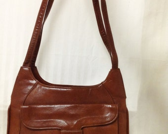 Zenith,Vintage purse,bag. 1950s, 1960s , Handbag ,Faux Leather, Brown