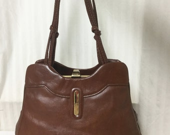 Brown Vintage Purse ,1950s,1960s, Brown, Vinyl, Handbag,Vintage,bags,purses