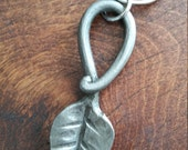 Hand forged leaf key chai...