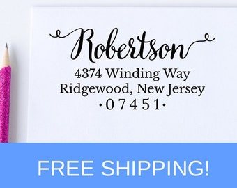 Custom Address Stamp, Self Ink Return Address Stamp, Birthday Gift, Personalized Stamp, Wedding Stamp, Housewarming Gift  (D105)