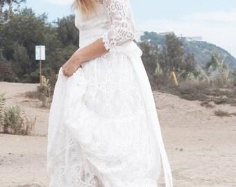 White Rena Wedding Gown