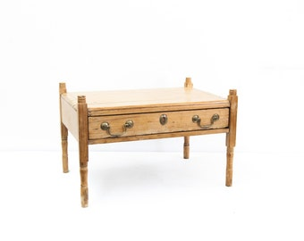 Miniature Pine One Drawer Table