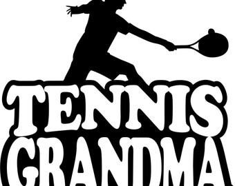 Tennis Grandma Hoodie/ Tennis Grandma Sweatshirt/ Tennis Grandma Clothing/ Tennis Grandma Gift/ Boy Player Tennis Grandma Hoodie Sweatshirt
