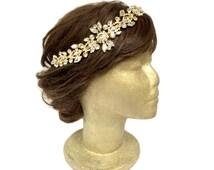 Art Deco Wedding Headpiece Indian Bridal Headpiece Jazz Age Old Hollywood Headpiece Vintage Style Rhinestone Headband Hair Jewelry Prom