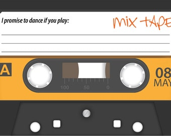 Cassette Tape - Song Request Card