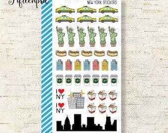 New york themed sticker -J088