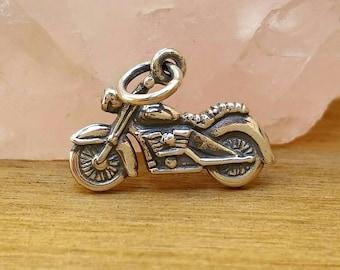 Sterling Silver Motorcycle Charm, Chopper, Daryl Dixon Motorcycle Charm,  The Walking Dead Charm, TWD, Cycle Charm, Harley Davidson Charm