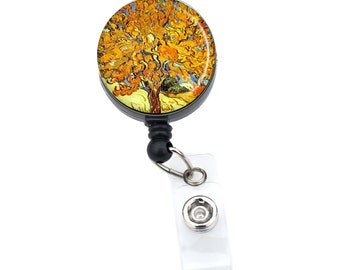 Mulberry Tree  ID Badge Nurse Retractable Badge Reels/ ID Badge Holder