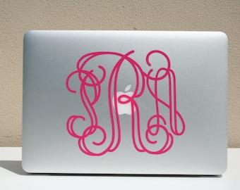Personalized Vinyl MacBook Monogram Decal | Laptop Decal | Computer Sticker | Car Decal |